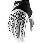 100% Airmatic Gloves Black White Silver