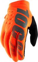 100% Brisker II Gloves Fluo Orange