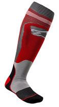 Alpinestars MX Plus-1 Socks Red Cool Gray