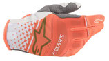 Alpinestars Techstar Gloves White Orange Fluo Gold