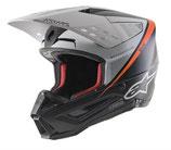 Alpinestars S-M5 Rayon Black White Orange Fluo Matt