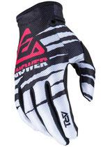 Answer AR1 Glow Gloves White Black Pink