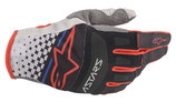 Alpinestars Techstar Gloves Light Gray Black Bright Red