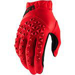 100% Airmatic Gloves Red Black