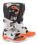 Alpinestars Tech 5 White Black Orange Fluo