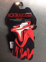 Alpinestars youth dual gloves Black red
