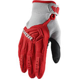 Thor Youth Spectrum Gloves Red Gray