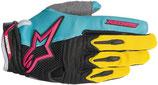 Alpinestars Techstar Gloves Teal Yellow