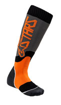 Alpinestars Youth MX Plus-2 Socks Cool Gray Orange Fluo