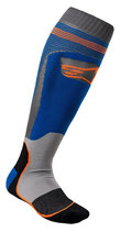 Alpinestars MX Plus-1 Socks Blue Orange Fluo
