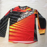 Alpinestars Racer Jersey Red Charcoal Yellow