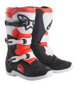 Alpinestars Tech 3S Youth Black White Red Fluo