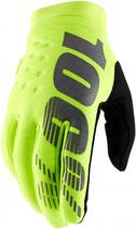100% Brisker II Gloves Fluo Yellow