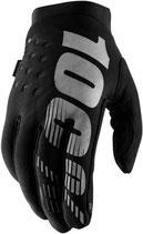 100% Brisker II Gloves Black Grey