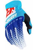 Answer AR3 Korza Gloves Hyper Blue Reflex Red