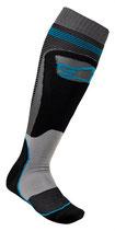 Alpinestars MX Plus-1 Socks Black Cyan