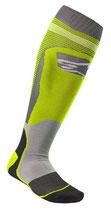Alpinestars MX Plus-1 Socks Yellow Fluo Cool Gray