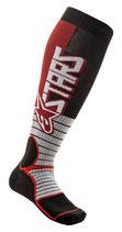 Alpinestars MX Pro Socks Burgundy Black