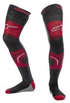 Alpinestars Knee Brace Socks Red Black Gray
