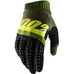 100% Ridefit Gloves Army Green Fluo Lime Fatigue
