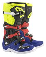 Alpinestars Tech 5 Blue Black Yellow Fluo Red