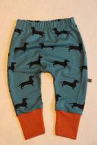 Jerseyhose Dackel blau/ rost