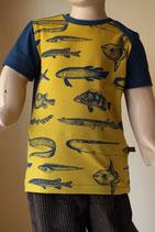 T-Shirt Fische currygelb