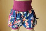 Shorts Baumwolle Blumen Digitaldruck