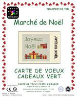 Carte de Voeux Cadeaux vert