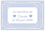 Baptême bleu