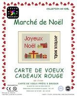 Carte de Voeux Cadeaux rouge