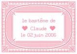 Baptême rose