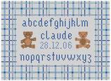Abécédaire Ourson bleu/marron