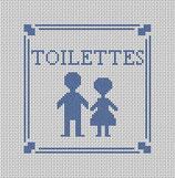 Toilettes bleues