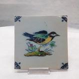 Carreau Oiseau Faience de Desvres 13×13cm numéro 13
