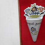 Bouquet Garni Décor Chaumière Faience de Desvres Hauteur 22 cm