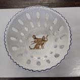 Petite Coupe à Fruits ou autre diamètre 12,5 cm hauteur 6,5cm Faience de Desvres Décor Léopards