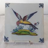 Carreau Oiseau Faience de Desvres 13×13cm numéro  19