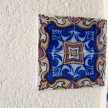 4 Carreaux Anciens année 1860 Faience de Desvres Fourmaintraux Hor  noy dimensions 13,5 cm × 13 ,5 cm référence PQ