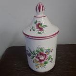 Pot avec couvercle Faience de Desvres Décor Strasbourg hauteur 25 cm diamètre 11 cm