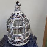 Cage Décor Rouen à suspendre ou à poser avec éclairage  hauteur 52 cm diamètre 26 cm  Faience de Desvres
