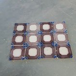 Lot de 12 carreaux année 1880 Fourmaintraux dimensions 11×11 cm référence B