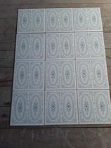 Lot de 12  carreaux Faience Art Déco dimensions 15 cm×15cm référence AB15