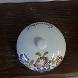 Cloche à camembert Faience de Desvres Décor chaumière diamètre 17 cm