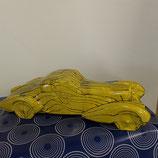 Bugatti Style 1930 Faience de Desvres longueur 36,5 cm hauteur 10 cm Couleur jaune et noir