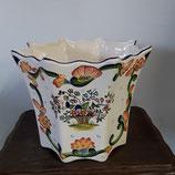 Cache pot Faience de Desvres Décor Rouen hauteur 22 cm diamètre 27,5 cm