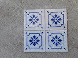 Lot de 4 Carreaux Delft 13cm ×13 cm réf AB58