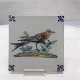 Carreau Oiseau Faience de Desvres 13×13cm numéro 10