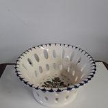 Coupe à Fruits ajoure  Faience de Desvres diamètre 15,5 cm hauteur 8,5cm