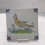 Carreau Oiseau Faience de Desvres 13×13cm numéro 7